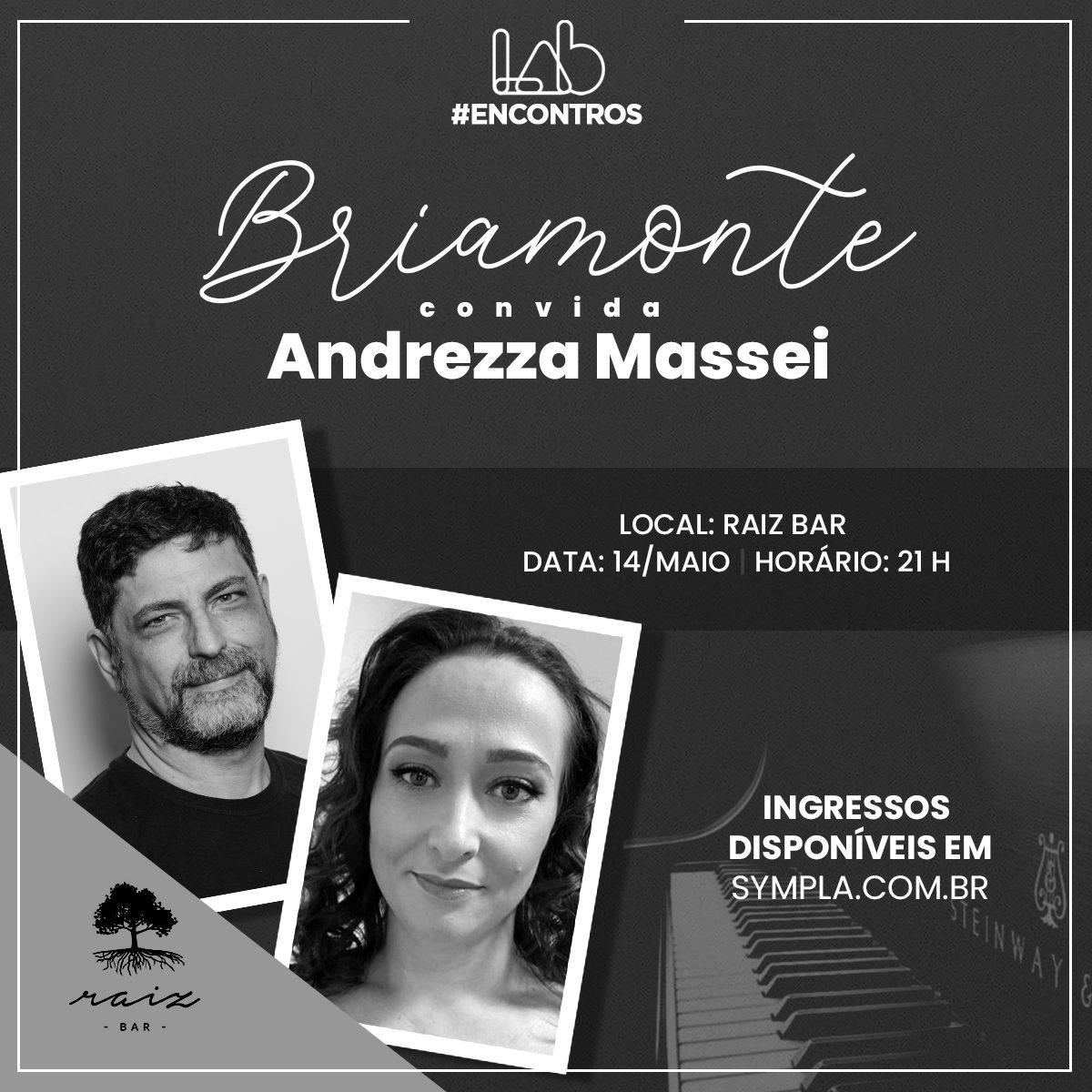 """Maestro Miguel Briamonte recebe Andrezza Massei no primeiro """"Briamonte Convida..."""""""