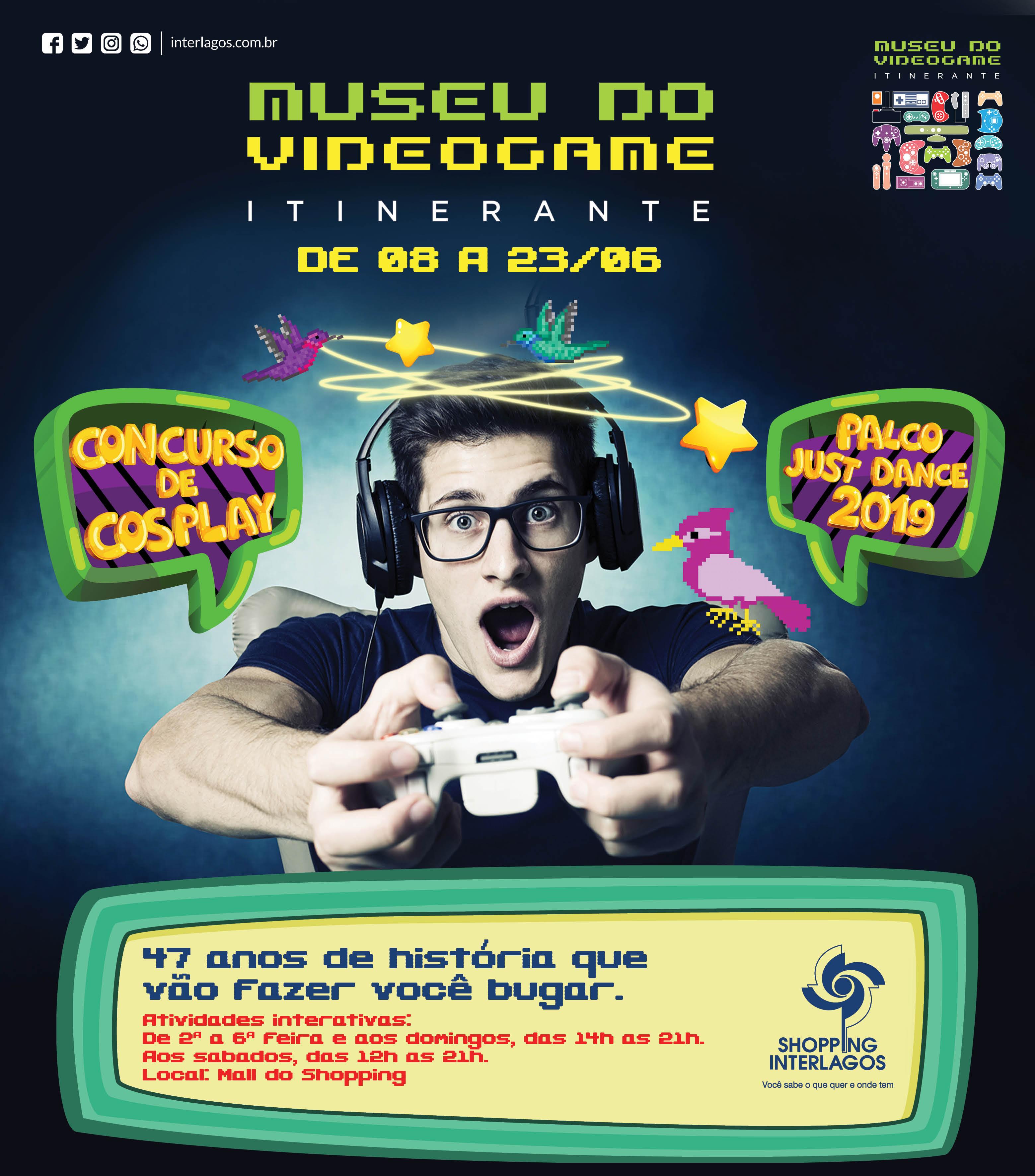 Shopping Interlagos recebe o Museu do Videogame Itinerante, com mais de 300 consoles diferentes